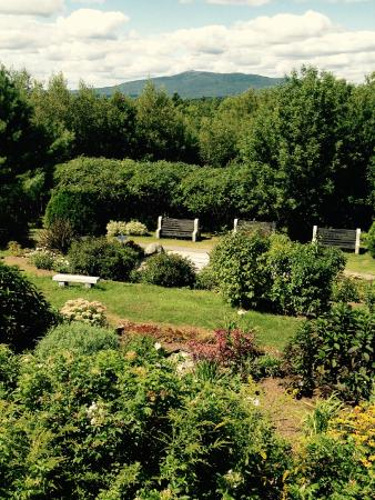 Rindge, NH: Garden behind/below the altar
