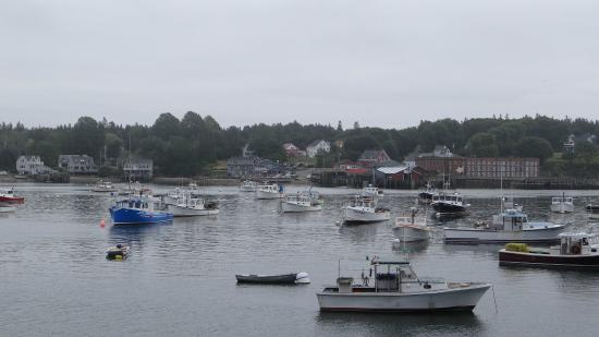 The harbor from the deck.