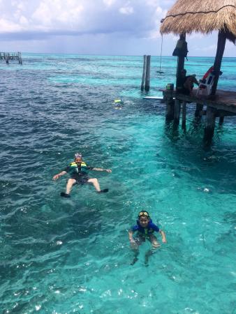 Casa de los Suenos: Hermoso y tranquilo lugar para hacer snorkel con personal de seguridad al pendiente