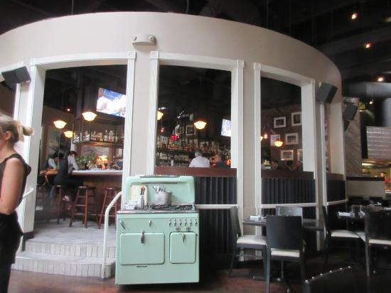 Cashion's Eat Place: One has to step up to get to the bar in the middle of the restaurant.