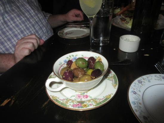 Cashion's Eat Place: My favorite dish, pickled olives (do not remember name from the menu).