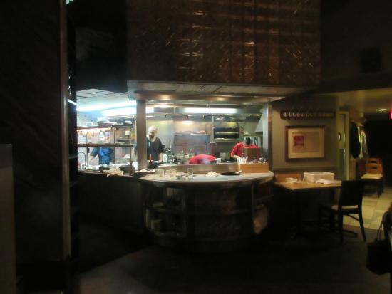 Cashion's Eat Place: Kitchen is open for view.