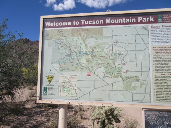 Tucson Mountain Park: map