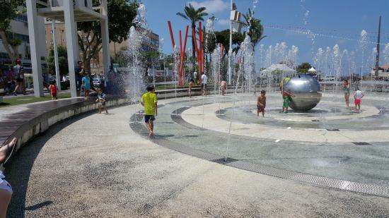 Netanya, Israel: Splash pad