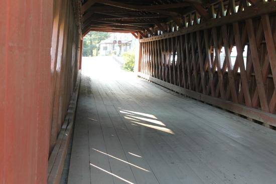 Northfield Covered Bridges: Northfield Covered Bridge inside by Chris Lance