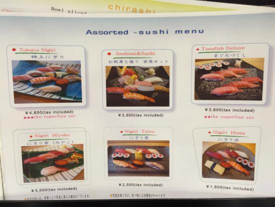 Image result for sushi kyotatsu narita menu