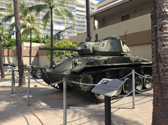 US Army Museum of Hawaii: The Military Tanks On Display Outside The Building
