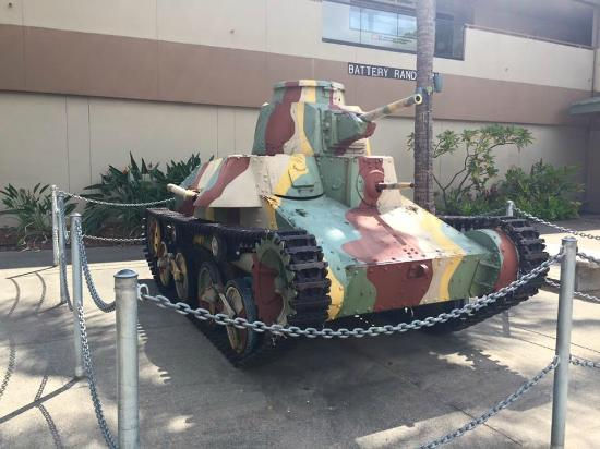 US Army Museum of Hawaii: A smaller Military Tank Outside On Display