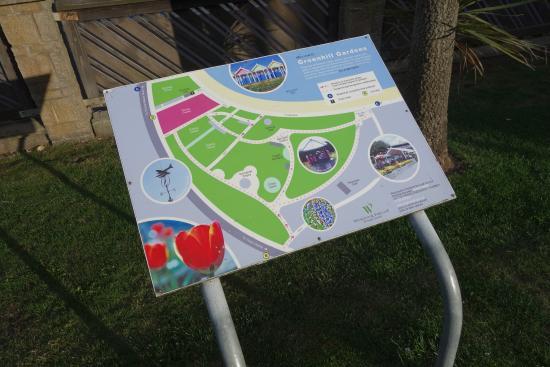 Weymouth, UK: Map of the gardens