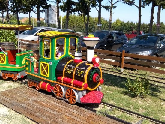 Rochefort du Gard, Frankrike: le petit train pour les tout petits