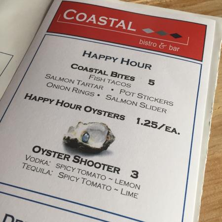 Coastal Bistro & Bar : Happy hour deal