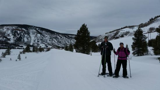 snow shoeing, start point from the rest stop before Camp Hale