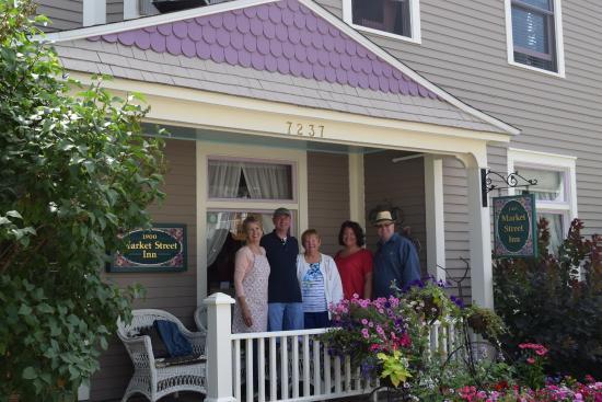 Market Street Inn: Kristen, the innkeeper, and our group.