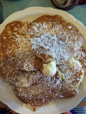 Original Pancake House: Coconut pancakes