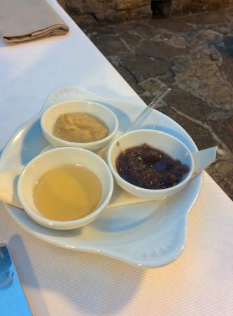CDH Hotel Radda: Cipolla, formaggio e marmellata