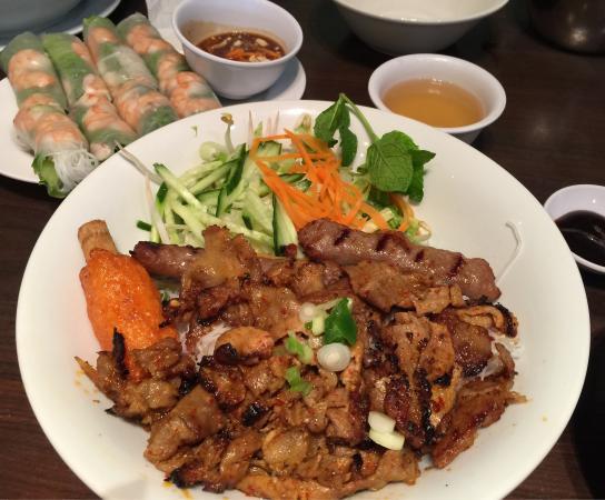 Pho Metro: Grilled pork, sausage, sugar cane shrimp vermicelli