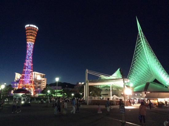 Kobe Harborland: ยามค่ำคืนสวยงามมาก โรแมนติกสุดๆ