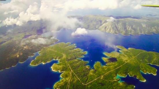 Skydiving Croatia: view during the jump