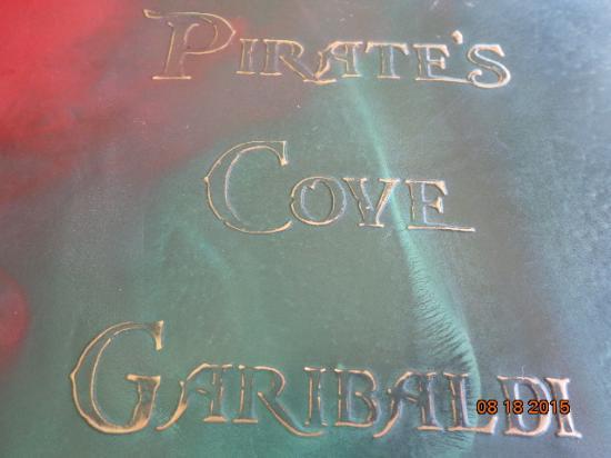 Pirate's Cove Restaurant: Menu upclose