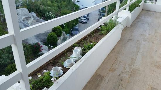 Des tasses de café qui attendent pendant quelques jours qu une bonne ame les ramassent.... peut
