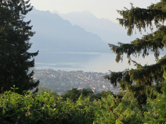 B&B Chez Bibiane & Rene : The view of the lake from the B&B