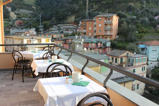 Hotel Villa Steno: Breakfast on the balcony