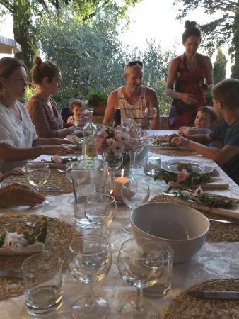 Villa il Colto: Welcoming dinner