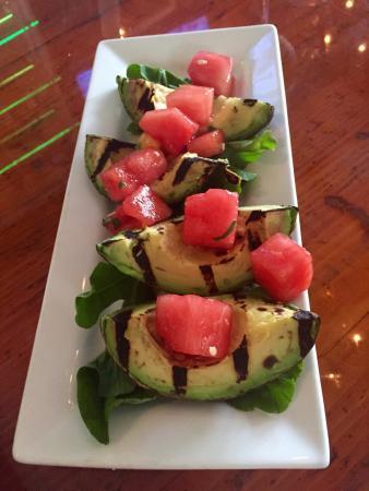 Grilled avocado with watermelon. Yummy!