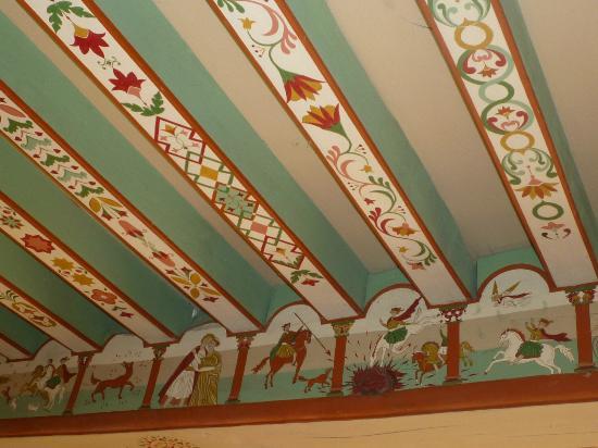 Commanderie de la Romagne : Le plafond de la chambre
