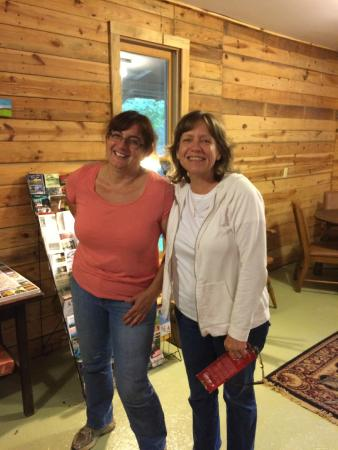 The Cabins at Healing Springs: Anne, our gracious hostess, on the left