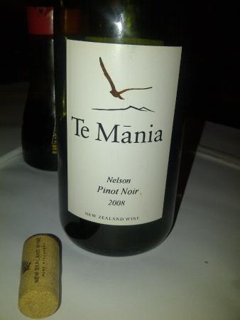 Chef Hannes Restaurant: NZ Pinot Noir at Chef Hannes