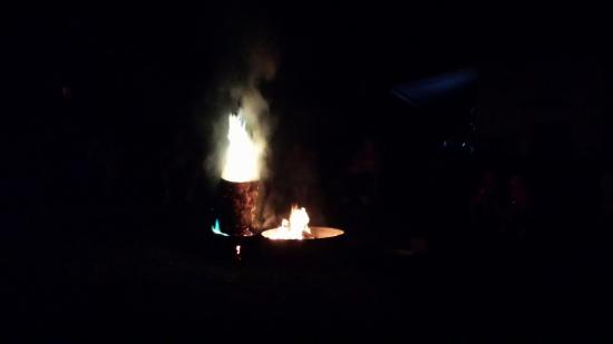 Wild Rose, WI: Our campfire