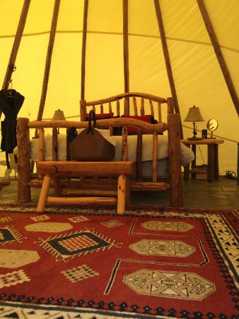 Cherry Wood Bed Breakfast and Barn: teepee interior