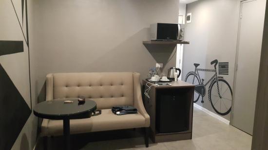 Astoria Greenbelt: couch a helpful addition