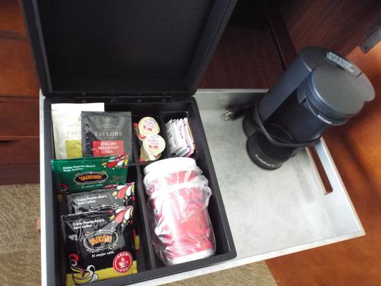 San Juan Marriott Resort Stellaris Coffee Maker With Box Of Tea