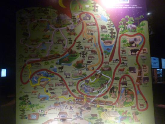 Map of the Zoo  Picture of Night Safari Singapore  TripAdvisor
