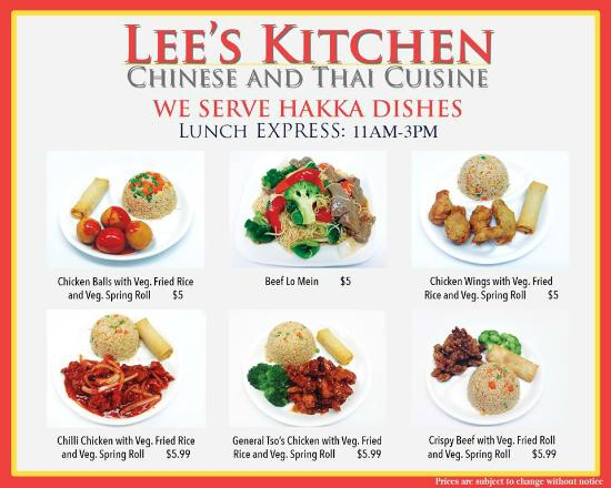 A Kitchen Is Launching An Express Lunch Service: Picture Of Lee's Kitchen Chinese