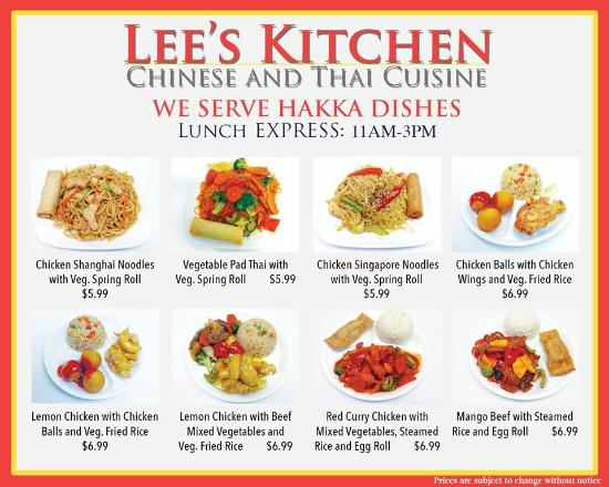 201 & Express Lunch Menu 1 - Picture of Lee\u0027s Kitchen Chinese ...