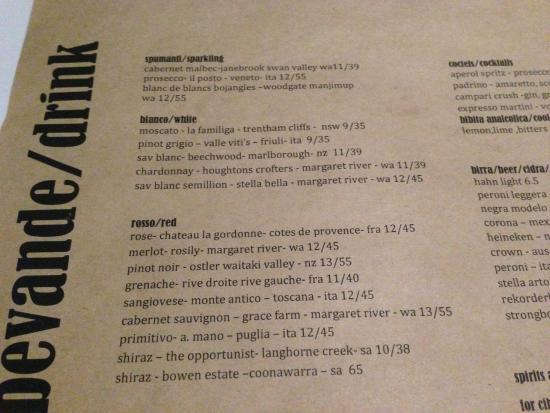 Kappy's Italian Restaurant: Menu