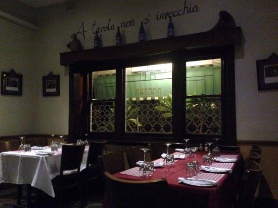 Kappy's Italian Restaurant: Interior of Restaurant