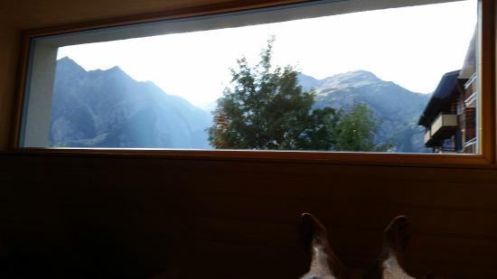 Matterhorn Valley Hotel Hannigalp: Blick aus der Sauna