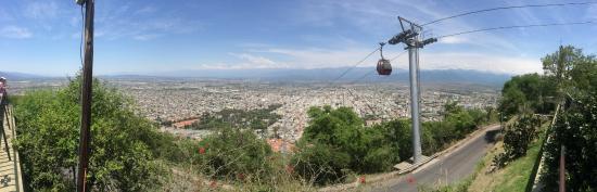 A bela vista a partir do Cerro San Bernardo