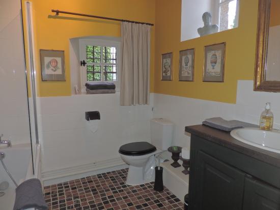 Hotel Tanquerey de la Rochaisiere : Salle de bain