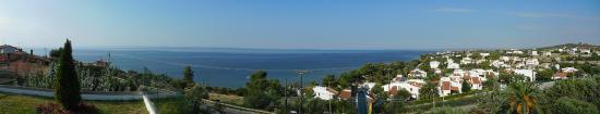 Trikorfo, Hellas: vue de l'hotel
