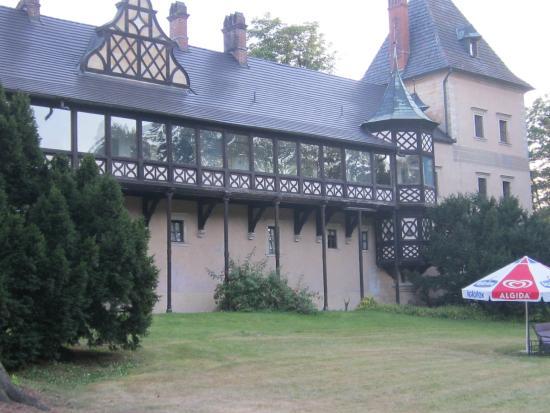 Kliczkow Castle: achteraanzicht kasteel hotel