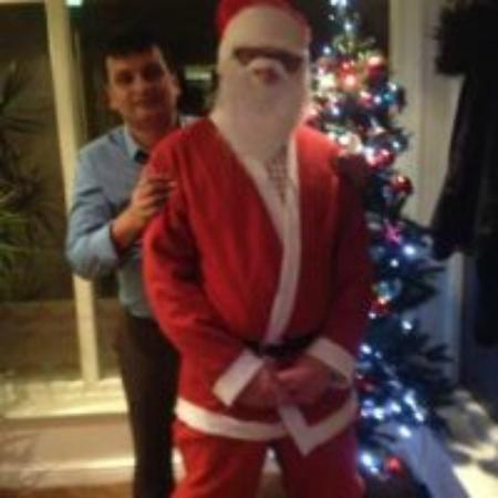 So India: Kirbir With Father Christmas..
