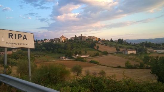 Veduta dalla terrazza del B&B La terrazza fio...Rita - Picture of ...