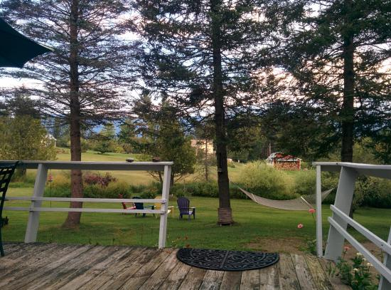 Firefly Bed and Breakfast: View from Firefly's front deck