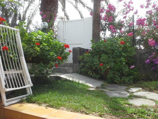 El Capricho Apartamentos: вход в сад