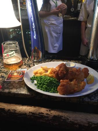 Great food and a nice sports pub atmosphere.
